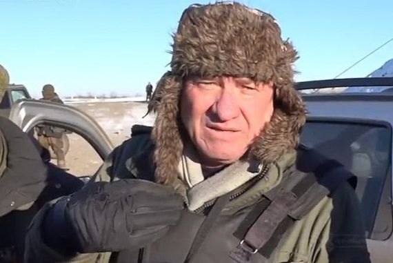 Нуруллин в роли боевика под Дебальцево / Скриншот видео