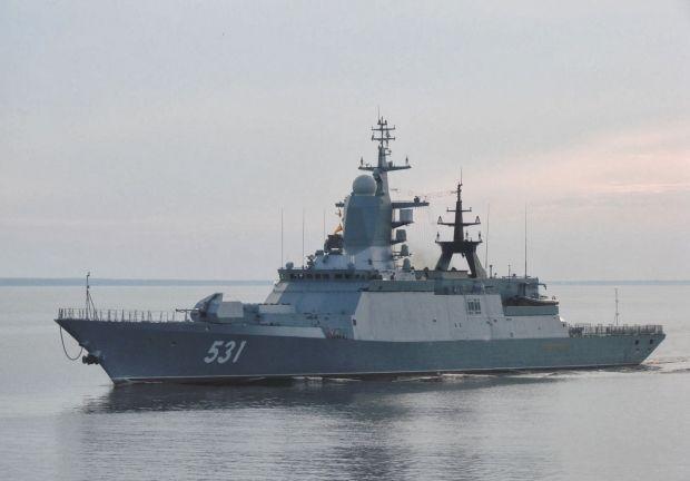 Российские корабли продолжают деятельность у вод Латвии