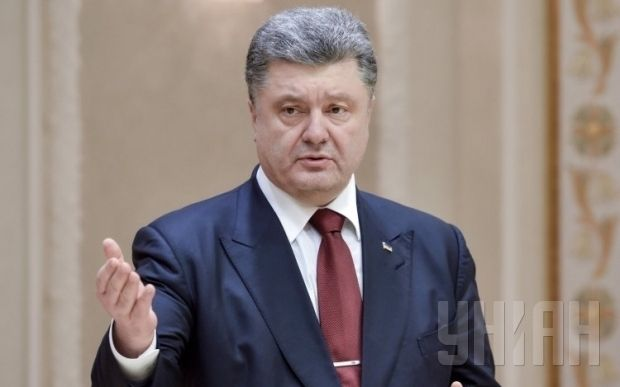 President Poroshenko says a peacekeeping mission will de-escalate the situation in Donbas / Photo from UNIAN