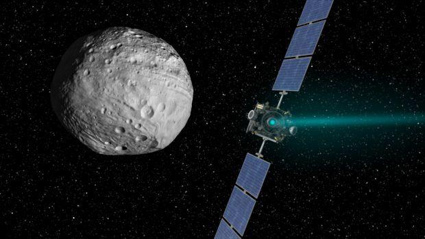 Rосмический аппарат Dawn вышел на орбиту карликовой планеты Церера / jpl.nasa.gov