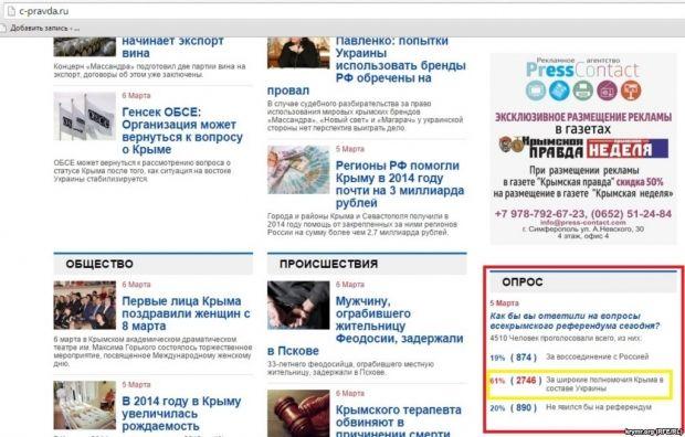 61% опрошенных хотят обратно в Украину / Скриншот