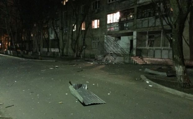 A new blast shakes a residential building in Odesa / Photo from forumodua.com