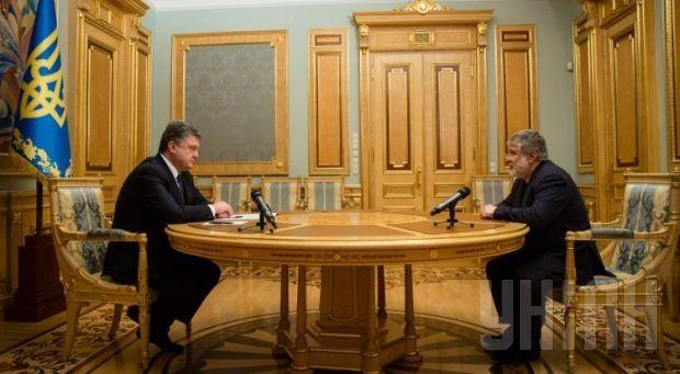 President Poroshenko and former Dnipropetrovsk Regional Governor Kolomoisky / Photo from UNIAN