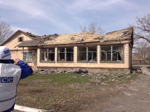 Up tp 60% of buildings in Shyrokyne, Donetsk region, destroyed by shelling / Photo from OSCE SMMU Facebook