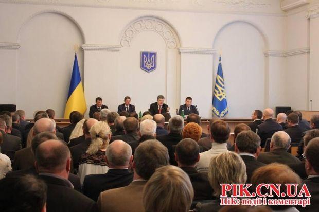 Порошенко в Чернигове представил нового председателя ОГА