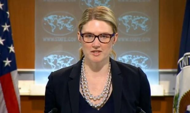 Marie Harf / Screenshot from broadcast by U.S. State Department
