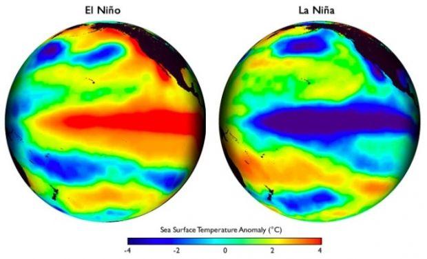 Эль-Ниньо в виде карты / iri.columbia.edu