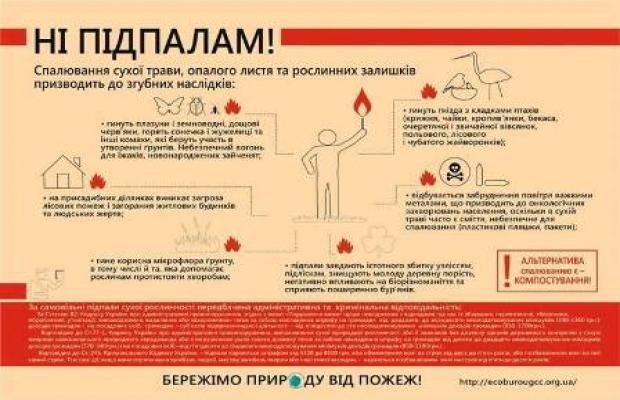 У Львові проведуть флешмоб проти спалювання трави