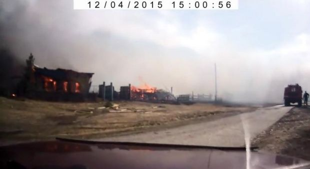 Large-scale fires are raging in Khakassia / A screenshot