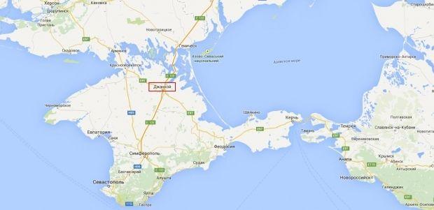 Джанкой / скриншот карты Google