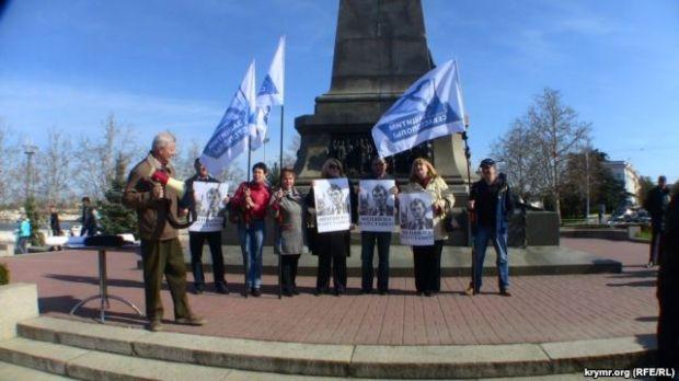 Согласование митинга с оккупантами не помогло активистам в проведении акции / ru.krymr.com