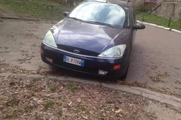 A car used during the shooting of Buzyna found not far from the crime scene / Photo from hromadske.tv