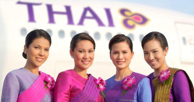 Стюардессы Thai Airways Int. (Таиланд) / moya-planeta.ru