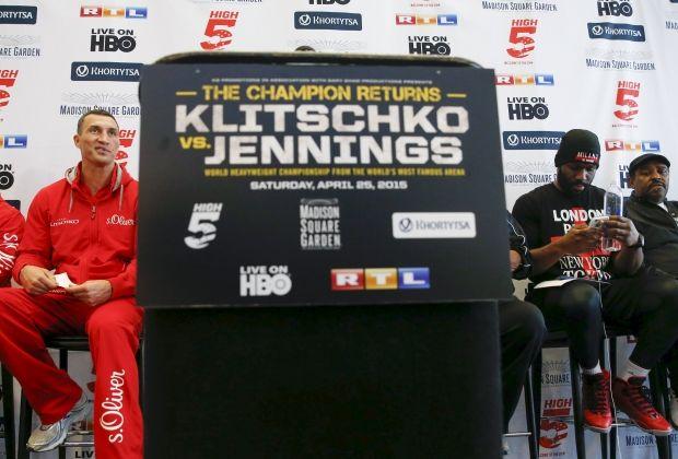 Кличко и Дженнингс готовы побить друг друга / Reuters