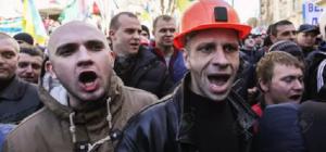 Протесты шахтеров в Киеве