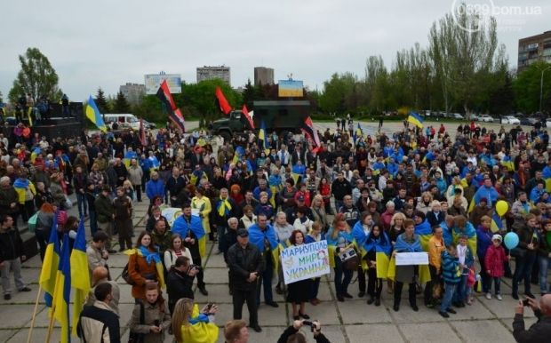 Mariupol residents don't want Ukrainian forces to leave a near-by village / Photo from 0629.com.ua