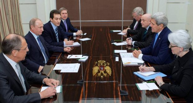 Kerry held talks with Putin and Lavrov on Tuesday / Photo from Kerry's twitter @JohnKerry