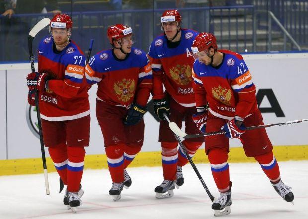 Сборная России выиграла у команды Швеции в центральном матче 1/4 финала / Reuters