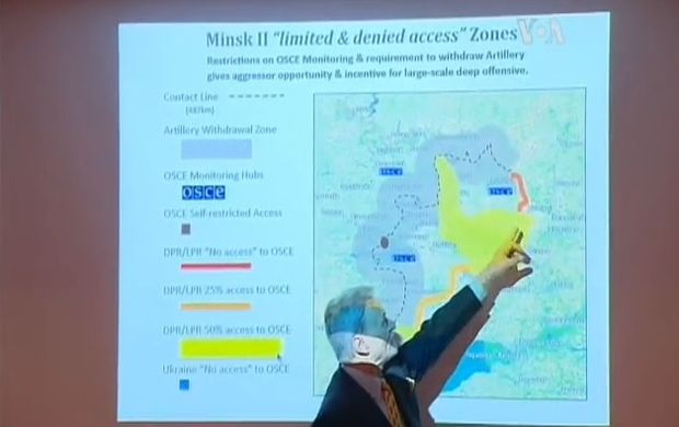 Screenshot from video of Karber presentation