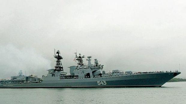 Russian Navy's Tarantul-class corvette Zarechny was spotted near Lavtian territorial waters