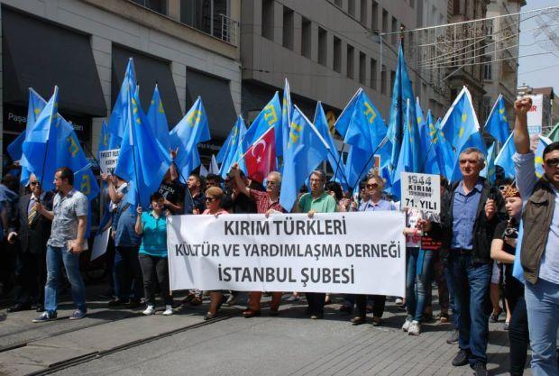 В Турции прошел митинг в поддержку крымских татар / qha.com.ua