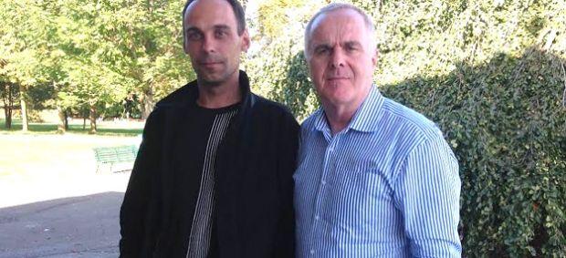 Журналист Евгений Шибалов и Раймонд Маккартни