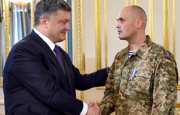 'Cyborg' Kuzminykh has been awarded by the president with an Order for Courage / Photo from @poroshenko
