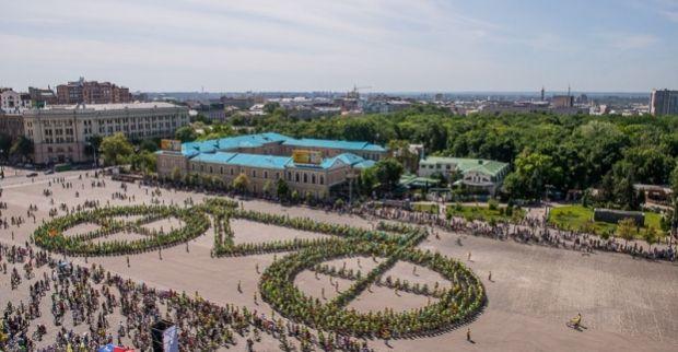 В Харькове велосипедисты установили рекорд / Сайт Харківської міськради