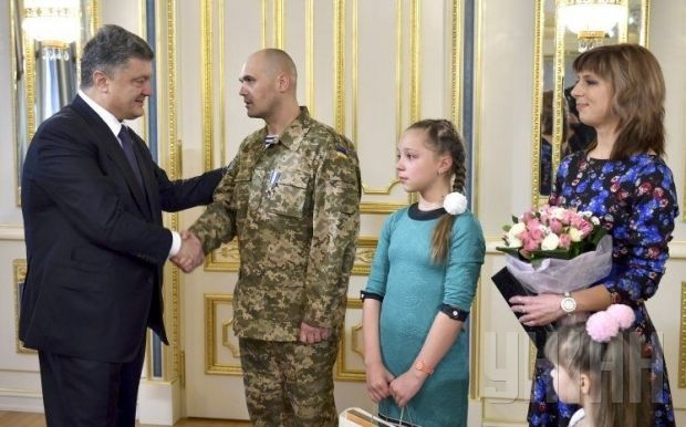 "Kuzminykh was awarded with the ""For Courage"" order  / Photo UNIAN"