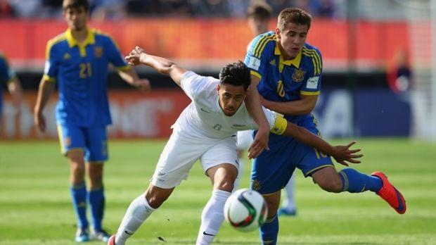 В первом матче сборная Украины не смогла одолеть хозяев ЧМ / fifa.com