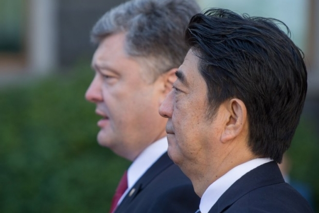 Japanese PM Shinzō Abe was on an official visit to Ukraine on Saturday / Photo from UNIAN