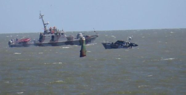 A coast guard motor boat exploded at sea near Mariupol on Sunday / Photo from 0629.com.ua