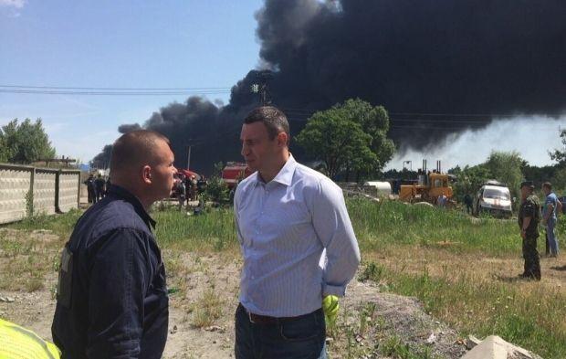 Кличко виїхав на місце пожежі / facebook.com/Vitaliy.Klychko