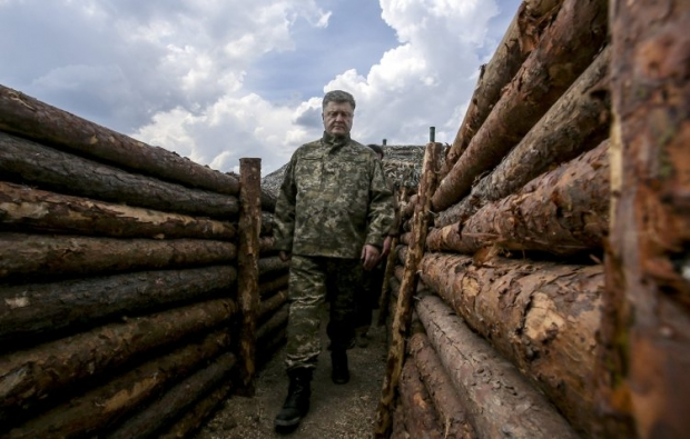 Poroshenko says almost 90% of fortifications in Donbas are ready / Photo from UNIAN