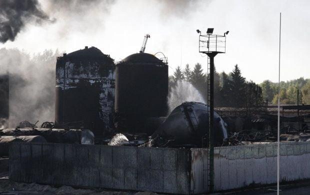 Пожежа на нафтобазі спалахнула 8 червня / facebook.com/MNS.GOV.UA