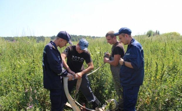 На Киевщине горят торфяники / ГСЧС