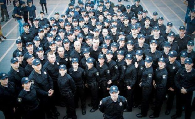 Brand new police will keep law and order in Kyiv streets / Photo from Arsen Avakov's Facebook
