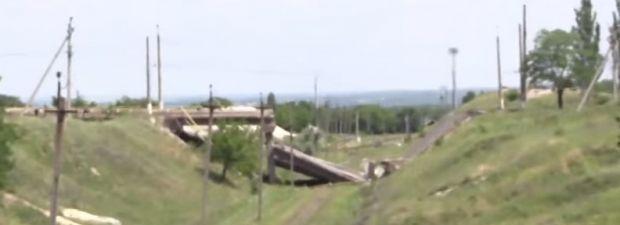 Уничтоженный мост / Кадр видео