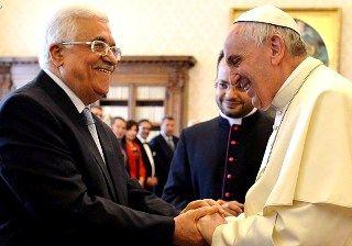Папа Франциск на зустрічі з палестинським президентом Аббасом - AP