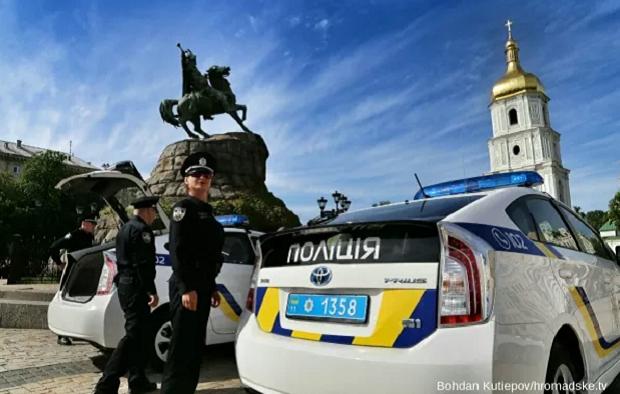 Нова поліція у Києві складає присягу / hromadske.tv / Богдан Кутєпов