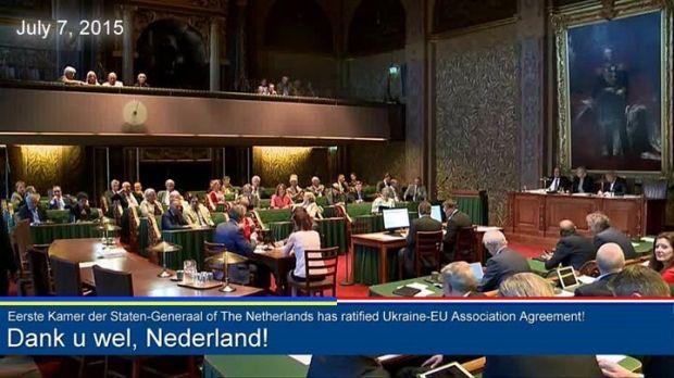 The Senate of the Netherlands has approved the EU-Ukraine Association Agreement / Screenshot from facebook.com/UkraineEmbNL