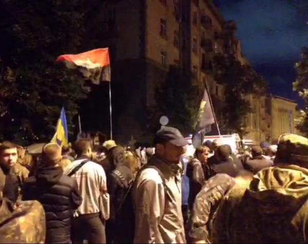 Протестующие собрались на банковой / twitter/Громадське ТБ