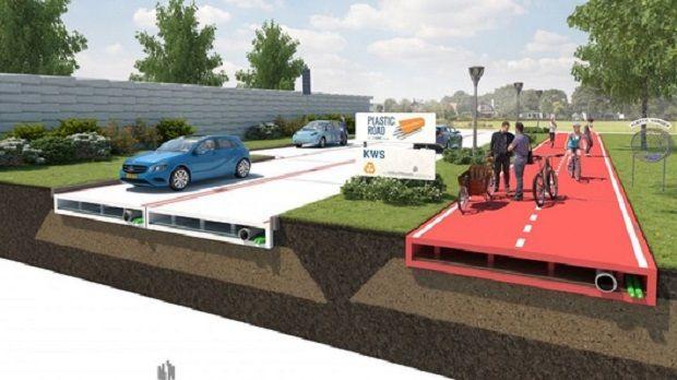 Дороги будущего будут строить из переработанного пластика / VolkerWessels