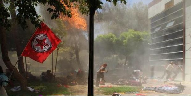 Nearly 100 wounded in a Turkey blast Twitter @sgdf_basin