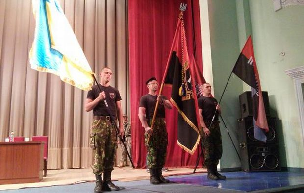 The Right Sector passed a number of decisions at its Congress behind closed doors on Tuesday/ hromadske.tv, RS_Ukraine