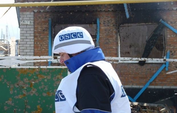 OSCE observers were allowed to visit two militant-controlled villages in Donetsk region / Photo from facebook.com/ato.news