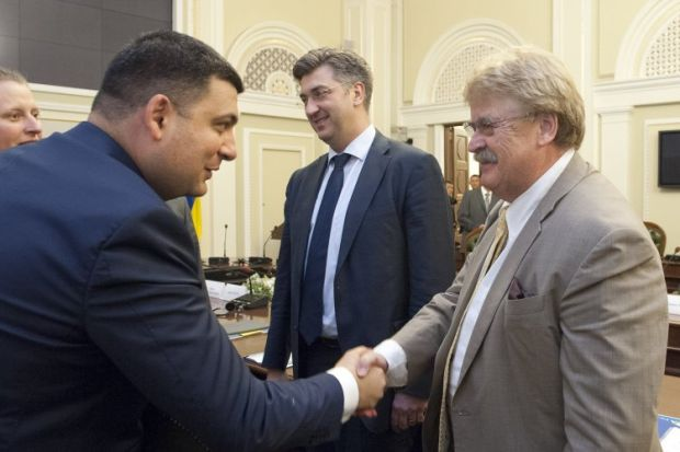 Ukrainian Parliament Speaker Groysman is meeting with EP delegates led by Chair of the European Parliament's Foreign Affairs Committee Brok / Photo from UNIAN