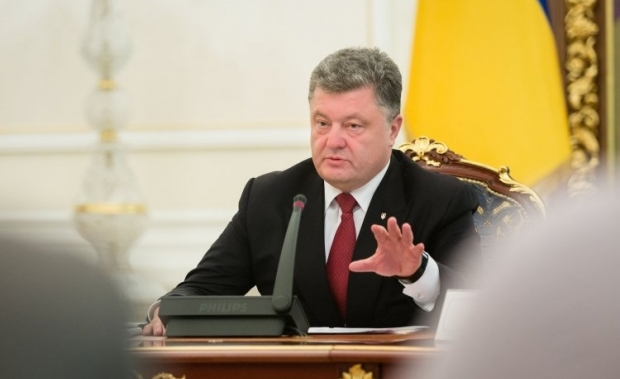 President Poroshenko expressed concern about recent escalation in Donbas / Photo from UNIAN