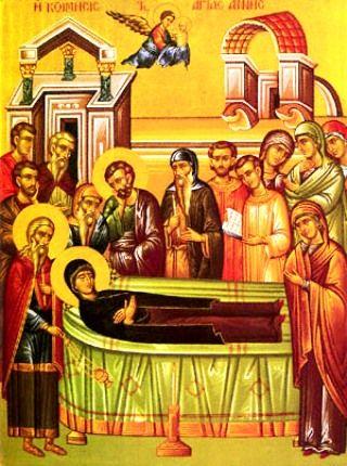 Величаем тя, святая праведная Анно, прамати Христа Бога нашего, и всечестное славим успение твое.