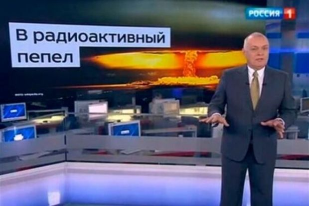 screenshot from Rossiya 1 video